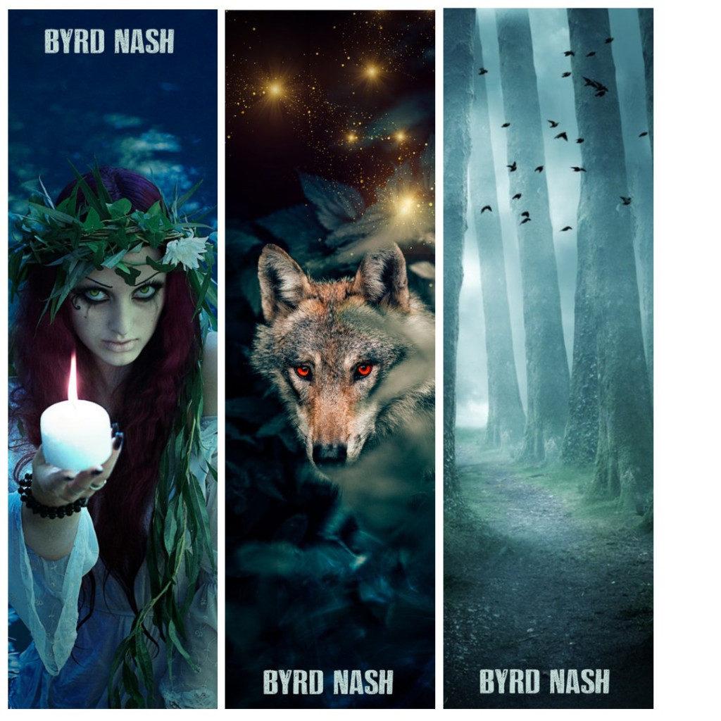 Byrd Nash author bookmark designs