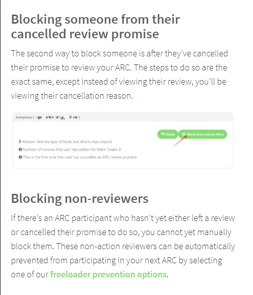 Booksprout blocking non-reviewers
