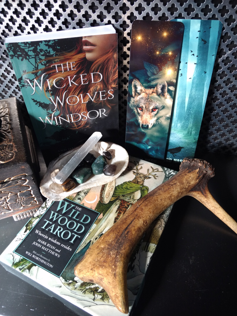 Instagram giveaway included The Wicked Wolves of Windsor and The Wild Wood Tarot deck