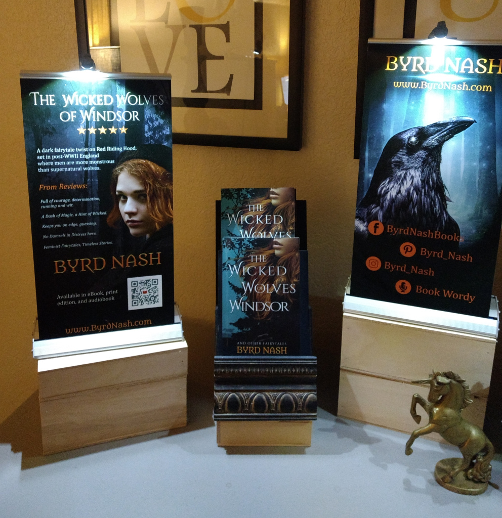 Author table display: banners and book displays