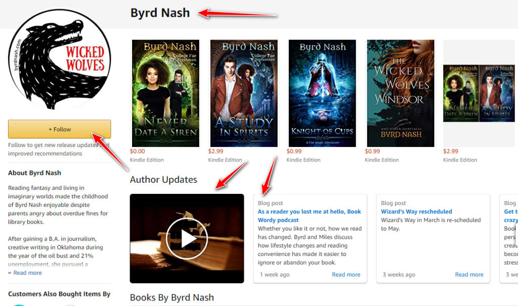 Byrd Nash on Amazon Author Central. Follow me here!