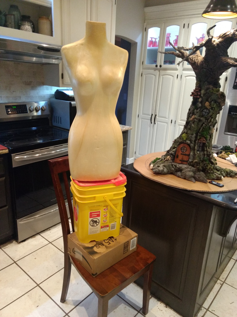 foam dressmaking form will be the dryad's body
