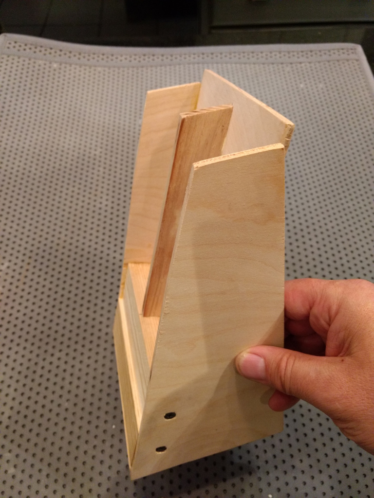 the angle keeps the bookmarks in place.