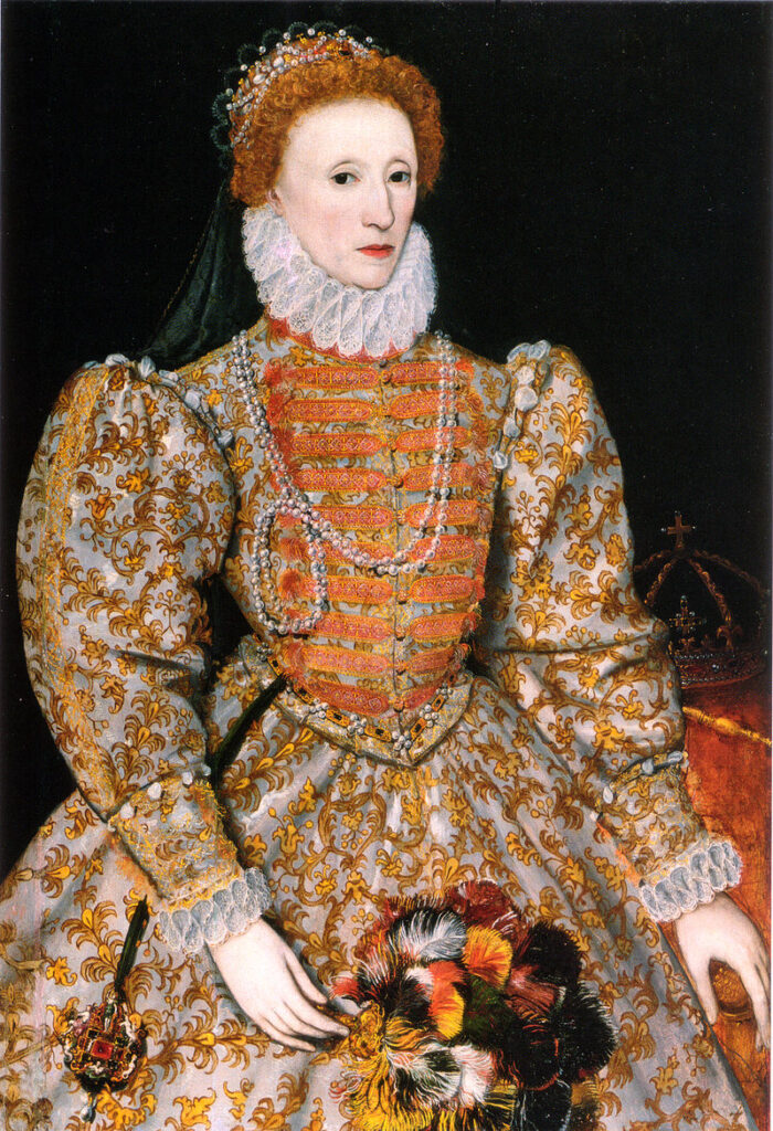 Queen Elizabeth I of England (1533 – 1603), who Edmund Spenser paralleled in his epic poem as the Faerie Queen.