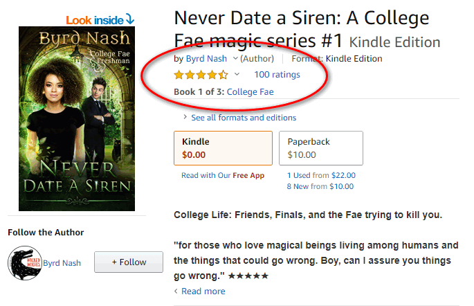 100 reviews for Never Date a Siren by Byrd Nash